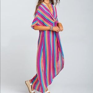 Show Me Your Mumu Stripe Up Your Life Twist Maxi